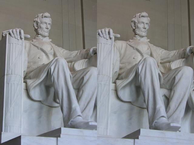 The Lincoln Memorial Statue. Lincoln Memorial statue